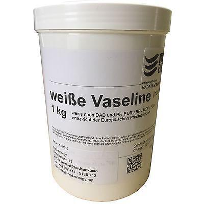 Vaseline Tattoo DAB 1kg Rein Weiss Pharma Körper Pflege 1000g Sonderpreis !!!