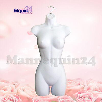 Female Dress White Mannequin Body Torso Form - Hollow Back Clothing Display New
