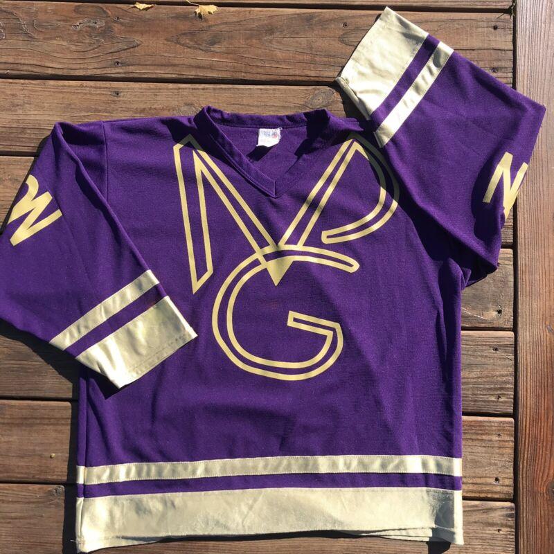 Vintage Prince New Power Generation Rare Hockey Jersey Purple Mens XL 90s VTG