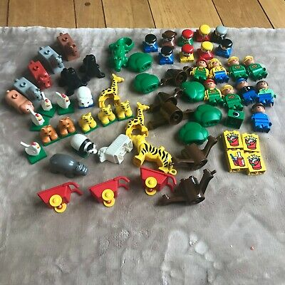 Lego Duplo Farm Zoo Lot Figures Animals Pig Cow Sheep Horse chickens trees Heads