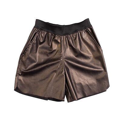 JIJIL Shorts Size S Faux Leather Textured Gathered Waist Elasticated Waist