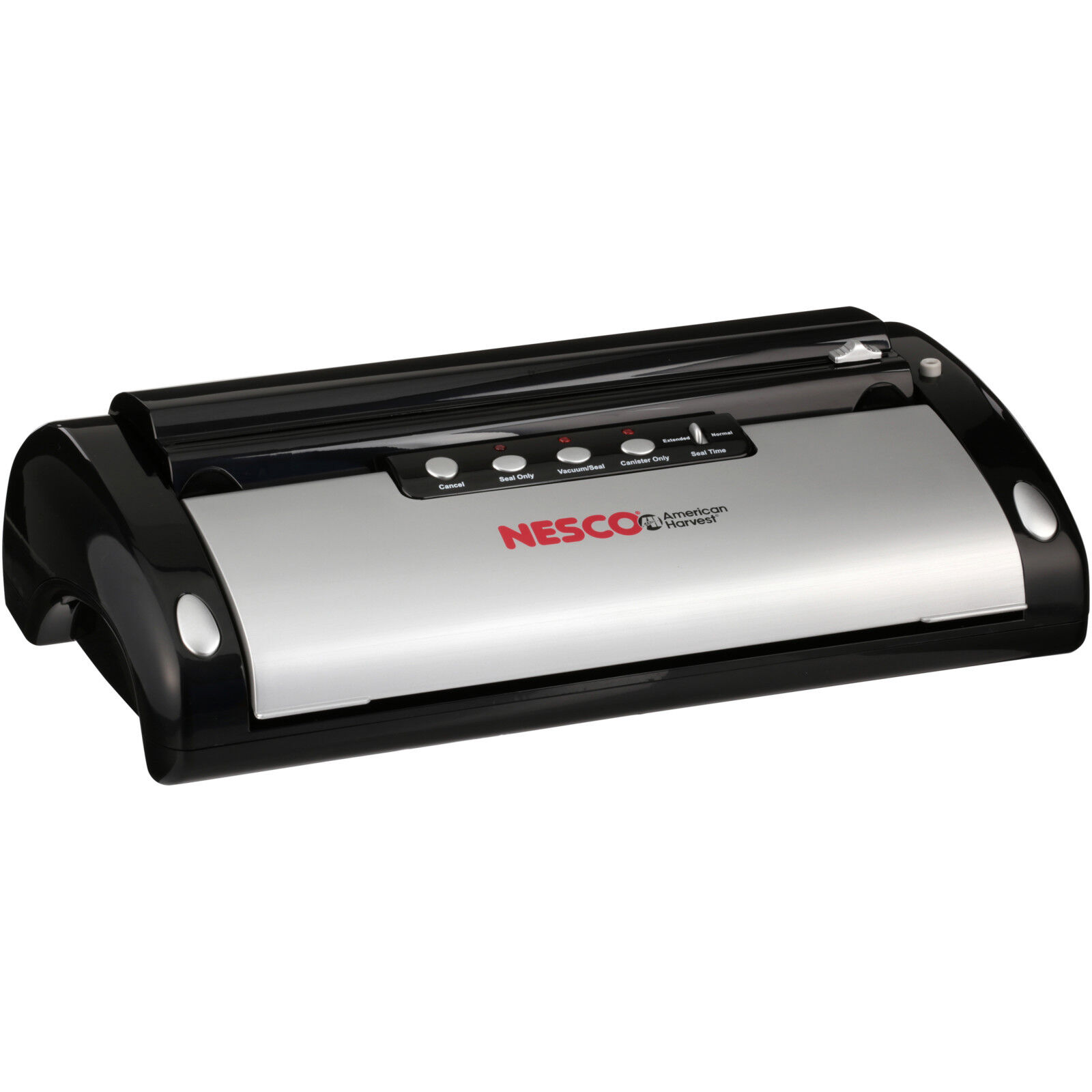 Nesco VS-02 130 Watt Vacuum Sealer, Black & Silver w/ Bag Cu