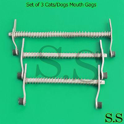 Set Of 3 Catsdogs Mouth Gags Veterinary Dental Instruments Examination Tools