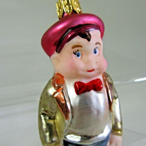 1994 Christopher RADKO WALDO X-mas Ornament #94-017-0 boy matte faced vintage
