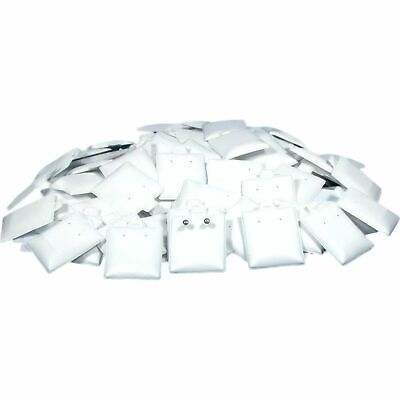 100 Earring White Puff Card Jewelry Case Display Pads 1 12 X 1 34