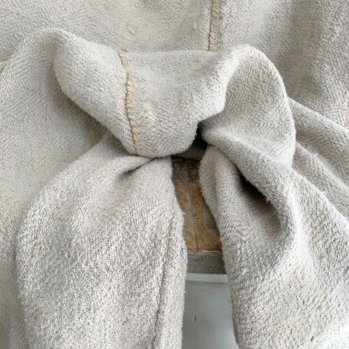 50 X 76  Antique hemp sheet hand-woven textile from Europe natural fabric linen