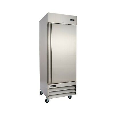 Peakcold Single Door Commercial Reach In Stainless Steel Refrigerator - 23 Cu Ft