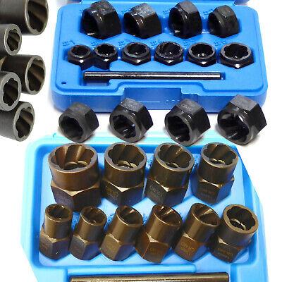 "20pc Locking Wheel Twist Socket Set Damaged Nut Remover Deep & Shallow 3/8"""