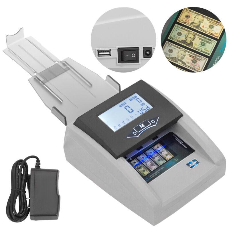 Automatic Counterfeit Bill Detector Machine Money Cash Counter UV+MG+IR Tester