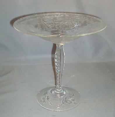 Antique Cut Glass Edwardian Pedestal Tazza Centerpiece Pairpoint 1900 Crystal