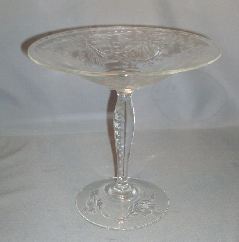 Antique Cut Glass Edwardian Pedestal Tazza Centerpiece Pairpoint 1900 Crystal