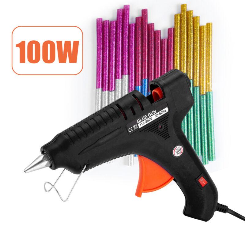 100W Professional Hot Melt Glue Gun Multi-color Glue Sticks for DIY Arts Craft