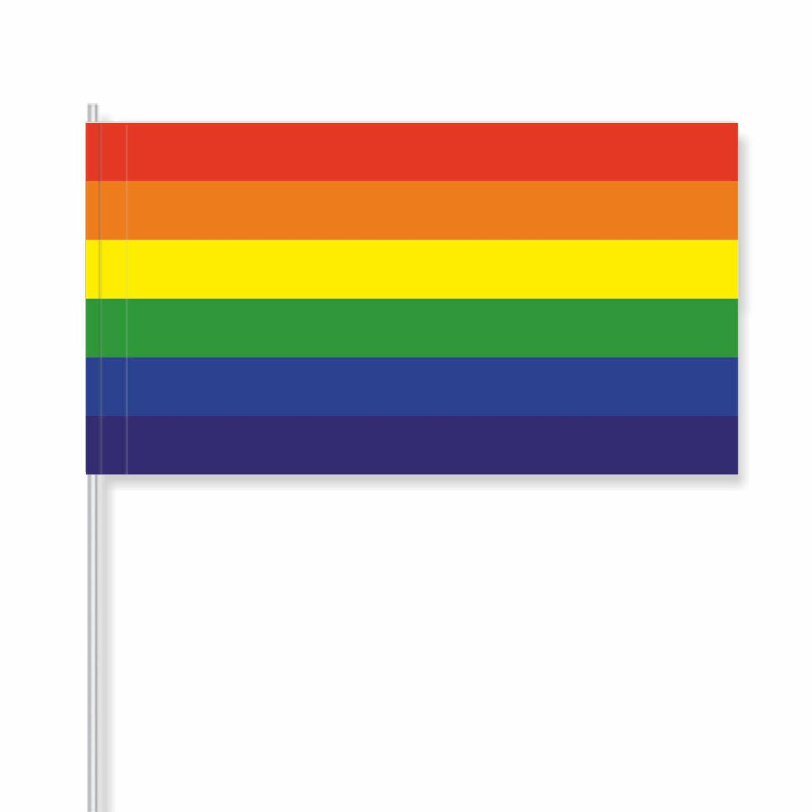 Papierfähnchen/Papierfahnen Regenbogen (Deko-Flagge) - FH
