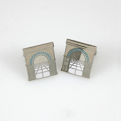 "Vintage ACME ""Louis Sullivan Arch"" Cufflinks by Stanley Tigerman Pre-Owned"