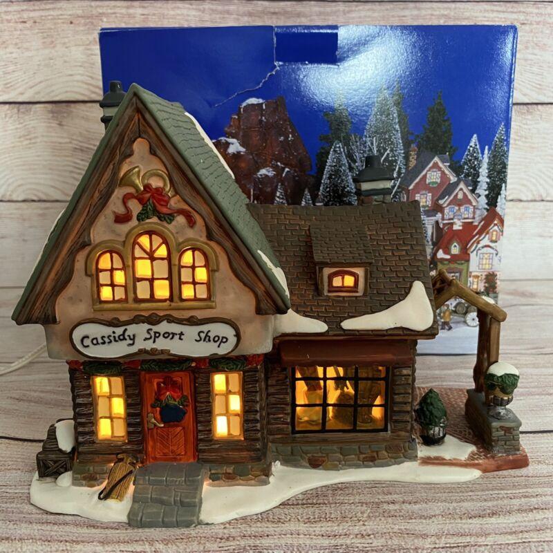 Heartland Valley Village Cassidy Sport Shop Christmas Porcelain Lighted House