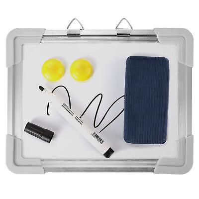 Mini Kids Dry Erase Drawing Study Board Hanging Magnetic Whiteboard Set 8 X 6