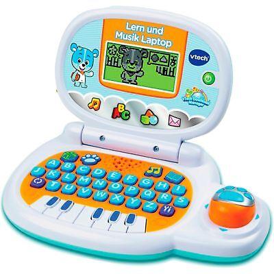 VTech Lern und Musik Laptop, Lerncomputer, weiß