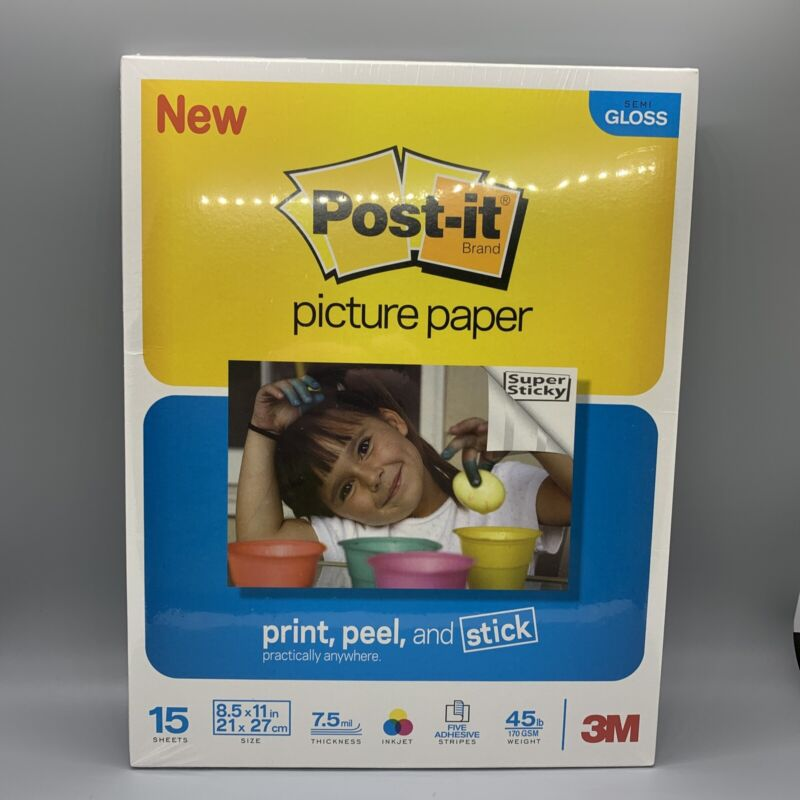 Post-It Picture Paper Semi Gloss 8.5x11 15 Sheets Sealed