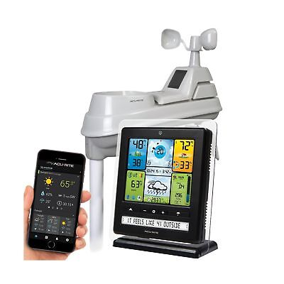 AcuRite 02064 5-in-1 Color Station with Weather Ticker and F