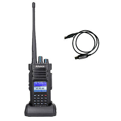 Ailunce DMR Funkgeräte Dual Band UHF+VHF 3000Kanal HD1 Amateurfunk + USB Cable