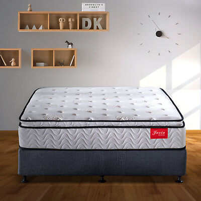 Innerspring Mattress Twin Pillow Top 11.4 Inch CFR 1633 Encased Coil Memory Foam
