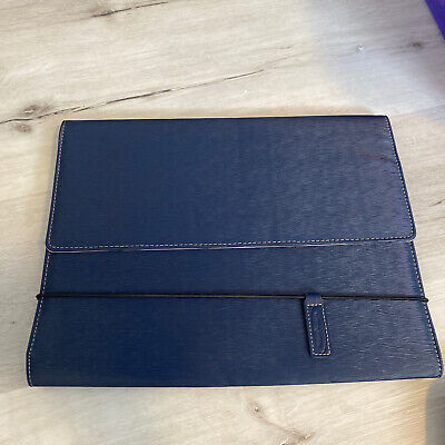 Wilson Jones Blue Portfolio Binder Folder New With Elastic Band