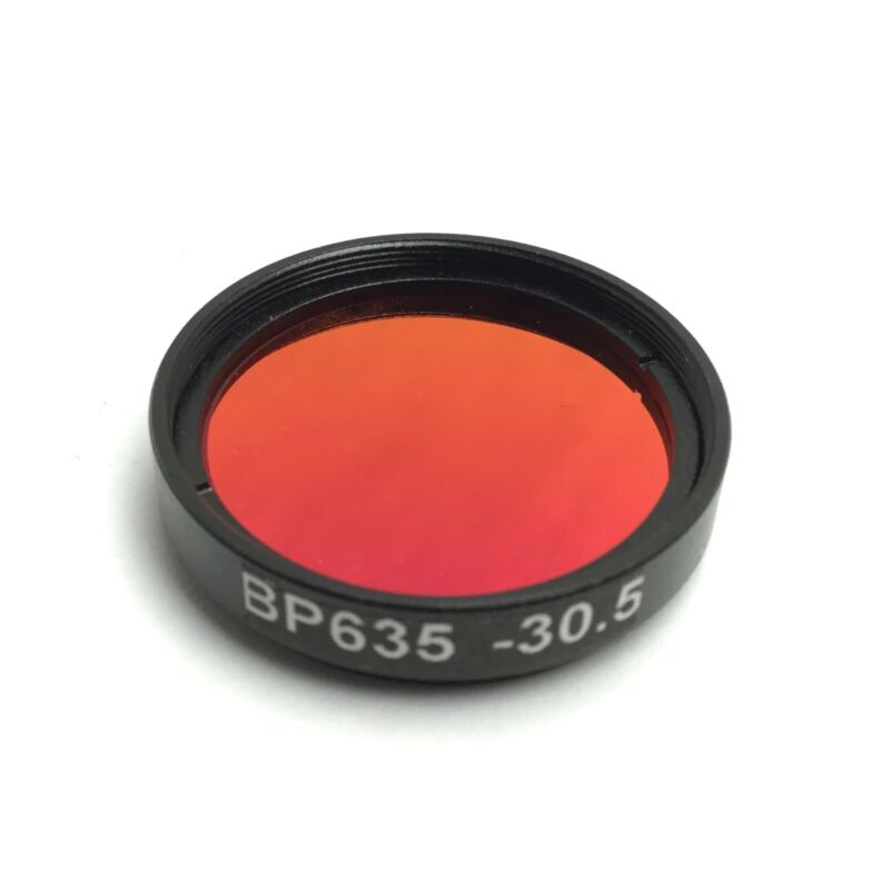 Midwest Optical BP635-30.5 LED/LASER Light Red Bandpass Filter, 615-645nm M30.5