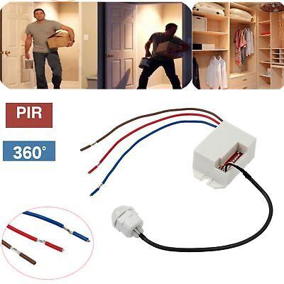 Mini Bewegungsmelder 360° 230V Unterputz Einbau Sensor PIR für LED 10W-800W IP20