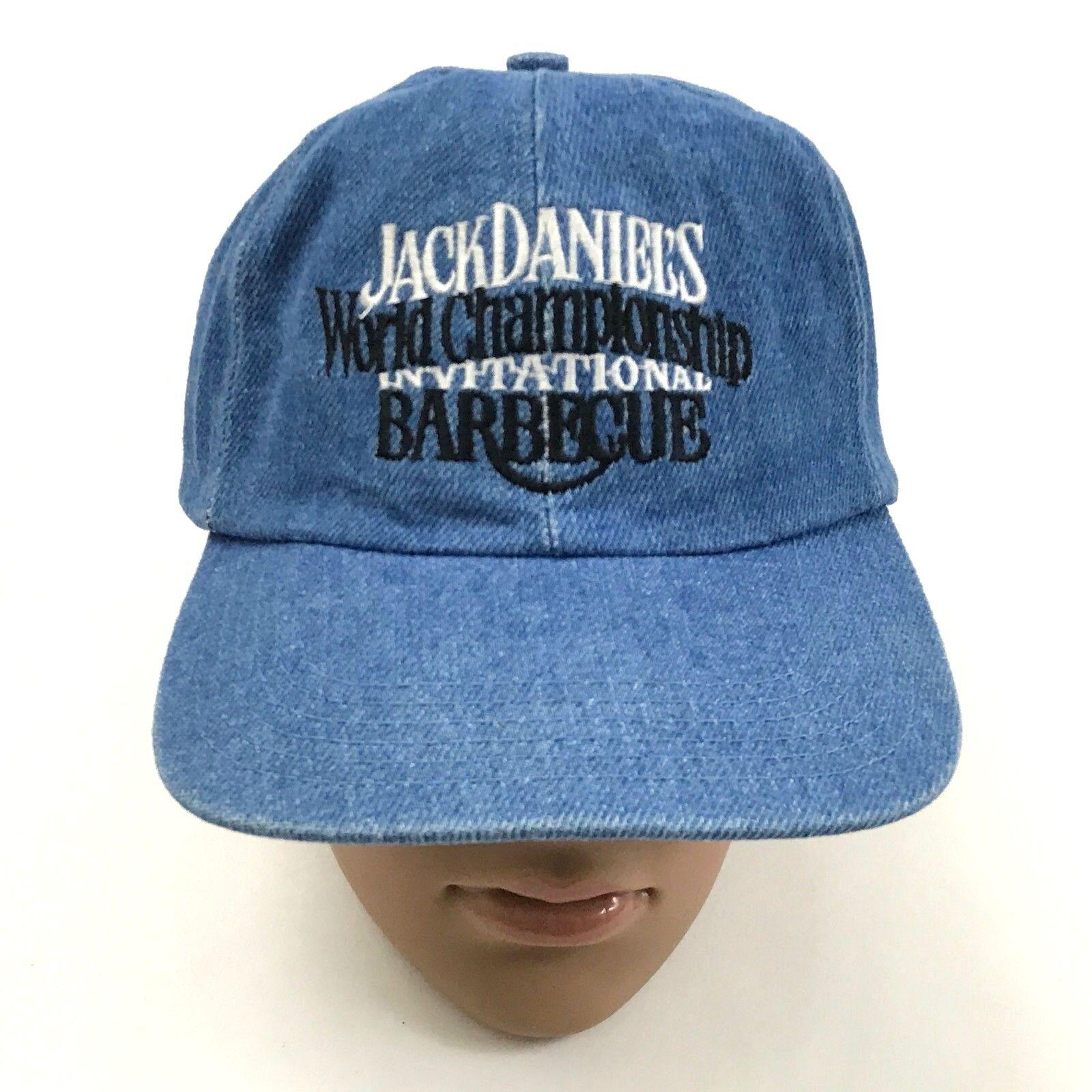 24.4ms Jack Daniels Denim Hut Weltmeisterschaft Einladend Grill Kappe Vintage