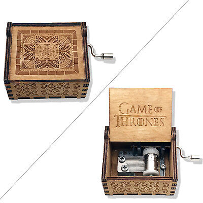 - Music Box Hand Crank Musical Box Carved Wooden The Theme Song of Game of Thrones