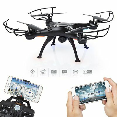 Black RTF X5SW-1 Wifi FPV 2.4Ghz 4CH RC Camera Drone with 0.3MP Quadcopter drone