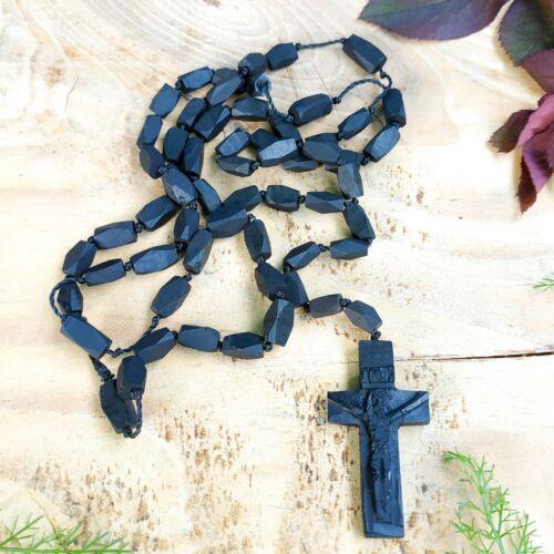 Azabache Rosary Black Jet Amulet Protection Evil Eye Family Necklace Good Luck