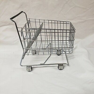 Mini Chrome Shopping Cart Metal Basket Planter Display-approx 12 Long