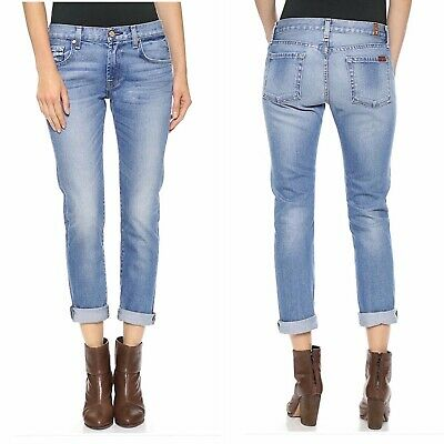 7 for All Mankind The Relaxed Skinny Girlfriend Jeans Size 25 NWOT