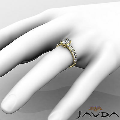 French U Pave Set Oval Diamond Engagement Ring GIA Certified E VVS1 Clarity 1Ct 2