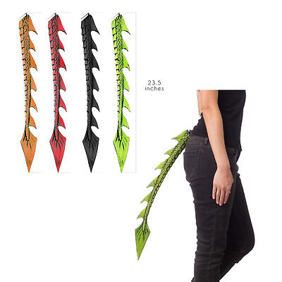 Dragon Tails Halloween Costume (Dragon Halloween Costume TAIL Black Green Orange Adult Child Game of)