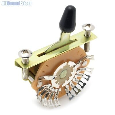 NEW - 2-Pole, Single Wafer, 5-Way Super Switch for Stratocaster Tele Guitar 5 Way Super Switch
