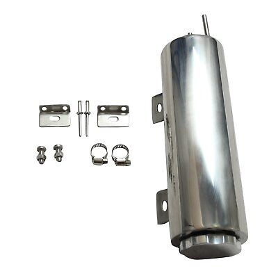 """3"""" x 9""""  inch Polished Stainless Steel Radiator Universal Overflow Tank New"""