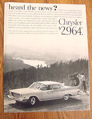 1961 Chrysler Newport Ad - $2,964  Heard the News?