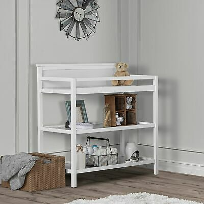 Baby Changing Table Station Infant Dresser Storage Shelf Nursery Furniture White