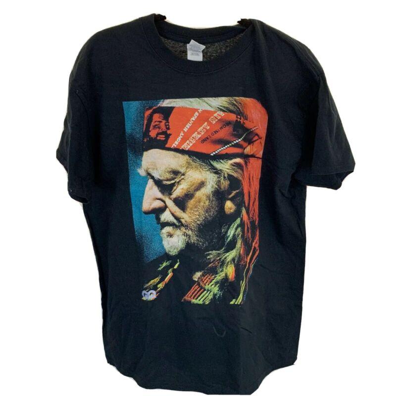 Willie Nelson Black T-shirt Size Large NWOT