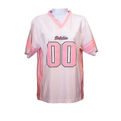 Youth Girls NFL Miami Dolphins Pink White Short Sleeve Football Jersey Size - Girls Jersey Short