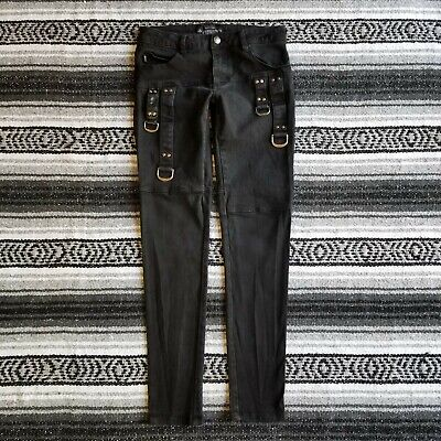 Tripp Denim Leggings (Tripp NYC Juniors Sz 5 Low Rise Skinny Leg Stretch Denim Jeans Black D-Ring)