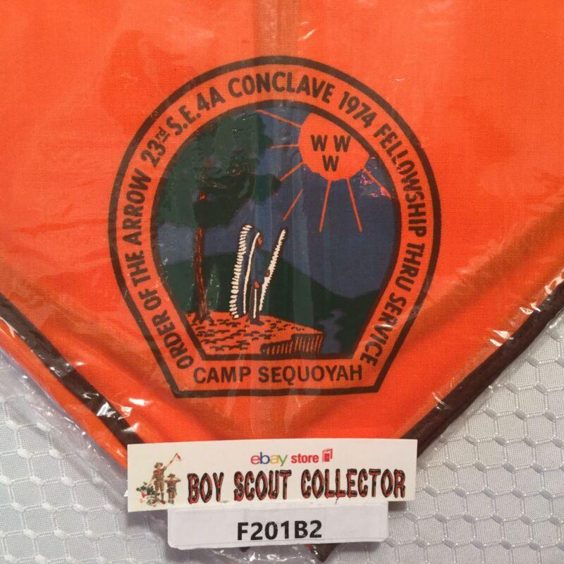 Boy Scout OA 1974 SE 4A Conclave Camp Sequoyah Order Of The Arrow Neckerchief