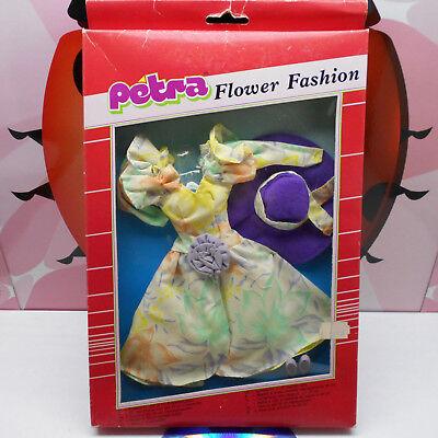 PETRA Doll Clothes Outfit Flower Fashion Plasty Lundby 80s Vintage Rare MIB (B)