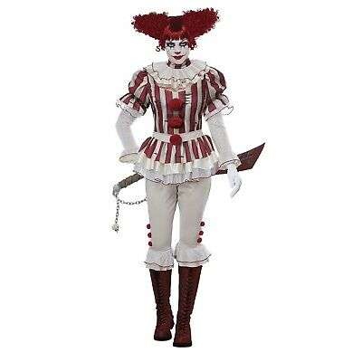 Women's Carnival Harlequin Clown Scary Killer Pennywise Halloween Costume - Carnival Halloween Costumes