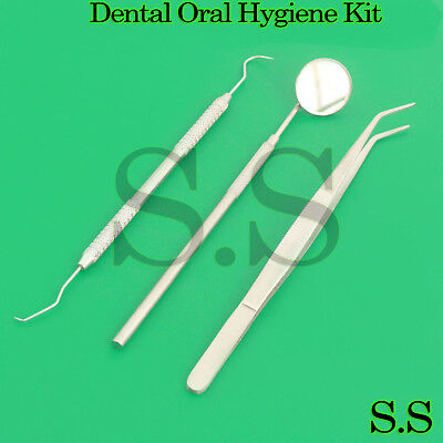 Professional Dental Oral Hygiene Kit 3 Tools Deep Cleaning Scaler Teeth Care Set
