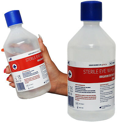 500ml Blue Lion Sterile Saline Eye Wash Cleaning Cleansing Solution Bottle