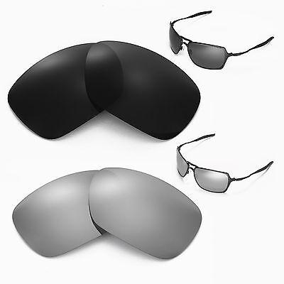 New Walleva Polarized Black + Titanium Lenses For Oakley Inmate