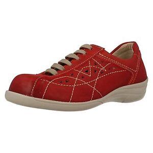 EASY-B-da-DB-039-HORNSEA-039-da-donna-Rosso-nubuck-con-lacci-comodo-scarpe-e-3e-V-FIT